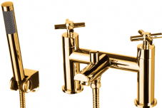 DoratO Adesso Bath Shower Mixer Tap in 24ct Gold